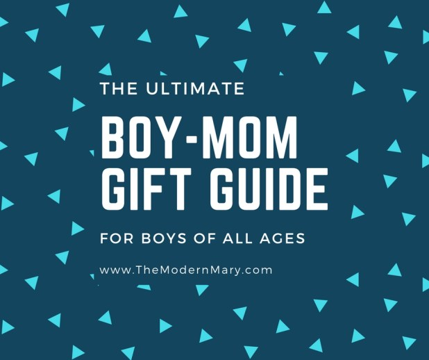 The ultimate boy mom gift guide. Gift ideas for boys of all ages. Christmas or birthday--you'll find the gift you're looking for. Baby, toddler, elementary, tweens and teens.