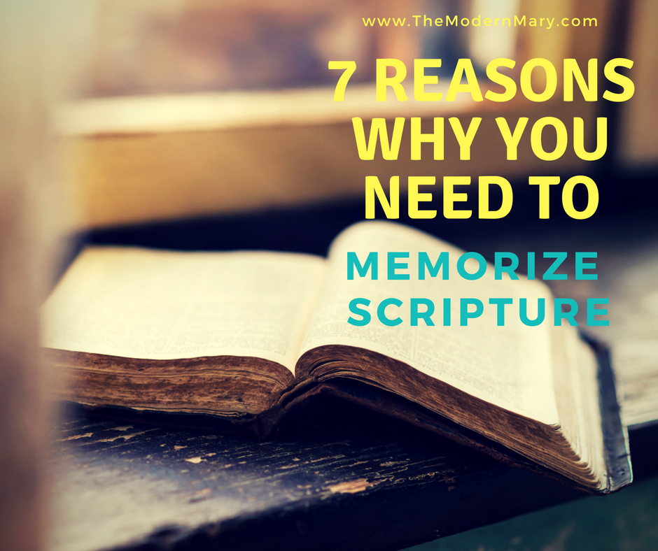 7 Reasons why you need to memorize scripture. Such a great list! #freeprintable #scripturestudy #scripturememorization #proverbs31 #bibleverse #anxiety #depression #goals #resolutions