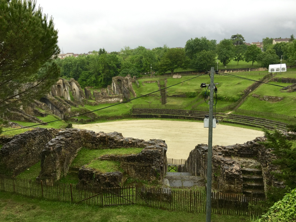 Entrance to the Gallo-Roman Amphitheatre in Saintes, France.