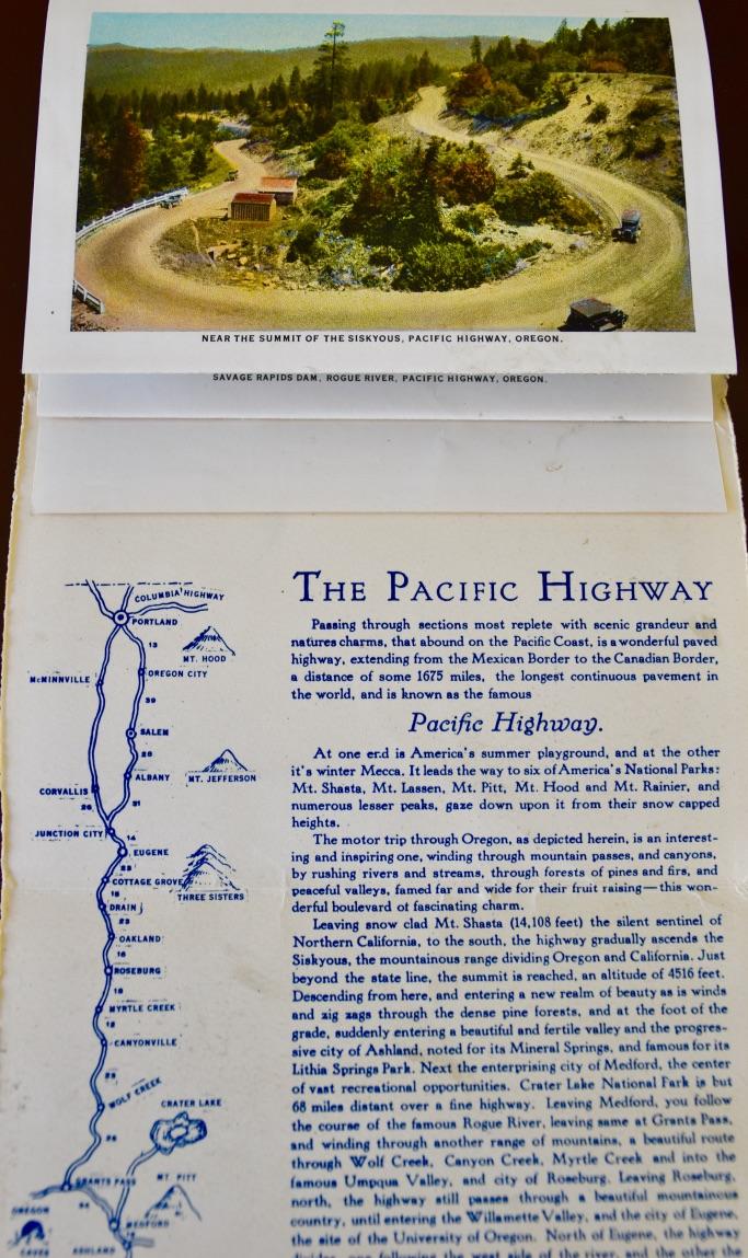 Pacific Highway, Oregon Vintage Postcard Folder - the modern postcard