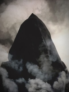 me in black robe smoke