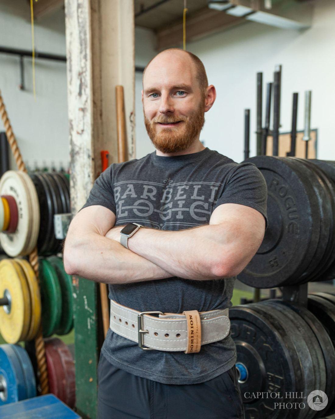 Robert wearing belt