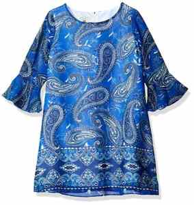 printed shift dress paisley