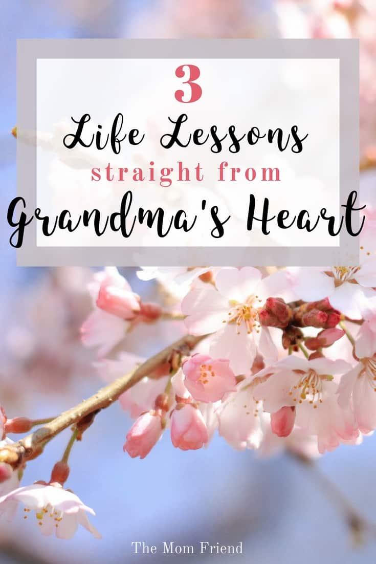 3 Life Lessons Straight from Grandma's Heart | #grandma #grandmagifts #grandparents #family #newmom #ad