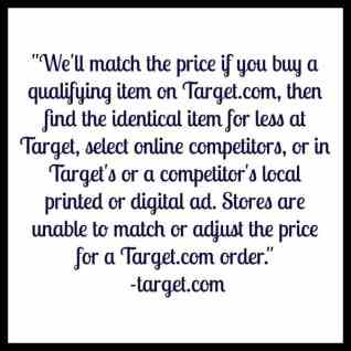 Target's Price Match Policy
