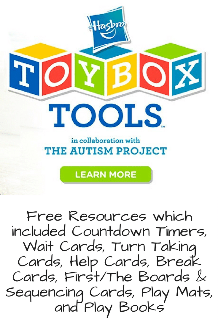 Free Autism Resource - Hasbro Toybox Tools in collaboration with The Autism Project