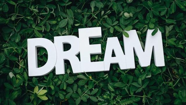 Block Letters saying Dream