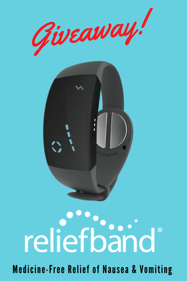 Looking for relief of nausea, retching, or vomiting? Then this giveaway is for you! Reliefband is the medicine free way to relieve your symptoms!