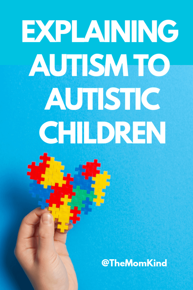 Explaining autism to kids with autism can seem like a tough job but it is absolutely doable! Check out this awesome guide plus some amazing additional resources for explaining autism spectrum disorder to autistic children.  #autismawareness #autismacceptance