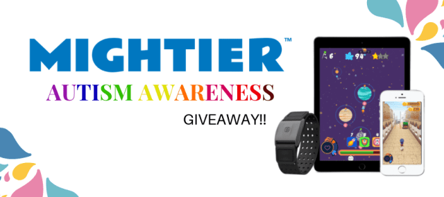 One of my all-time favorite products is Mightier! It's a suite of bioresponsive games designed to help the child regulate their emotions. It is perfect for those with autism, ADHD, and other emotional dysregulation disorders. So what a better way to celebrate this month than with a Mightier Giveaway for Autism Awareness!