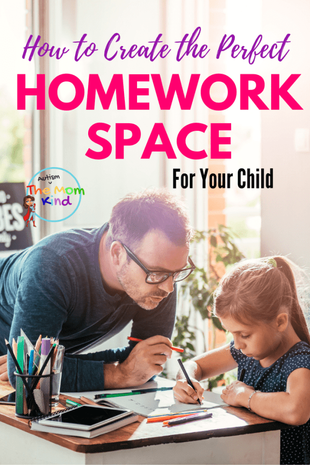 Instead of the kitchen table, think about creating a designated homework space for kids to give them a sense of independence & responsibility #parentingtips #homework #backtoschool