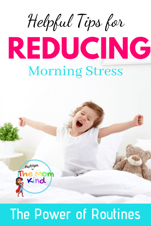 Autistic children often struggle with mornings and transitions. Check out these Helpful Tips for Reducing Morning Stress | Morning Routines  #autismparenting  #autism #asd #parenting #autismawareness  #specialneedsparenting