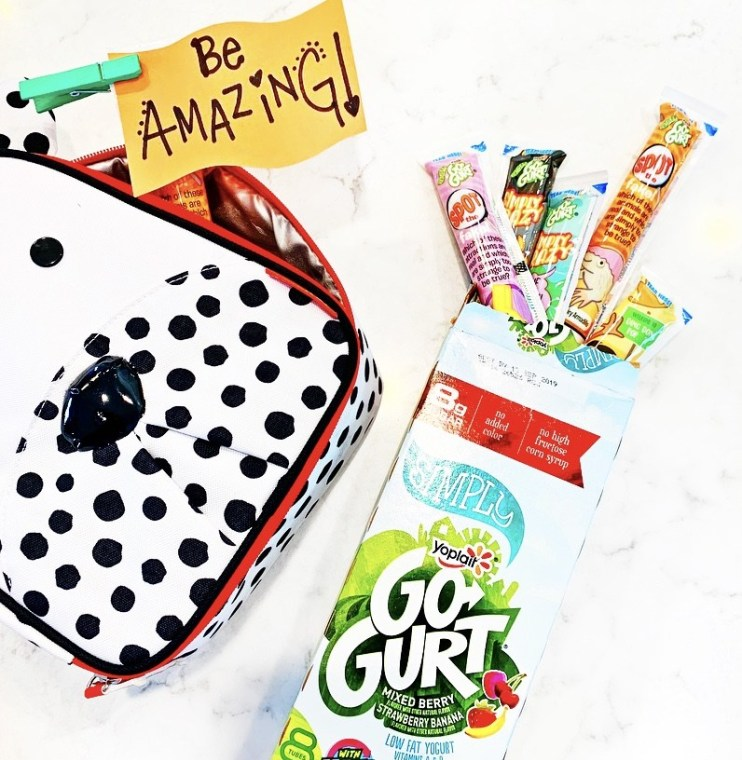 Back to School Fuel- Create Fun Lunchbox Signs with Yoplait Gogurt!
