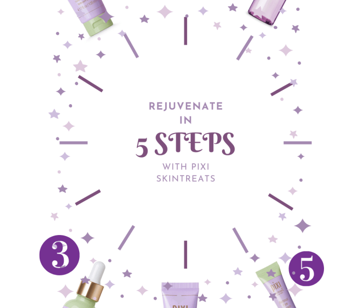 Rejuvenate & Renew in 5-Steps using Pixi Skintreats