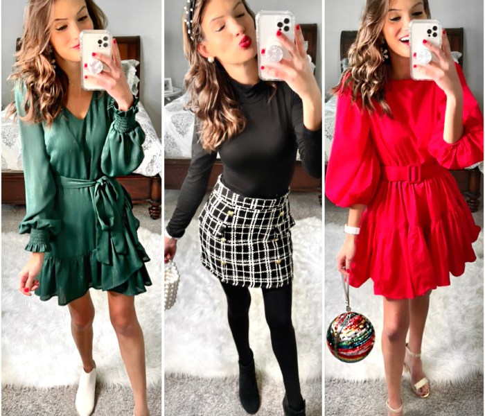 Holiday & New Years Eve Fashion Haul with Red Dress