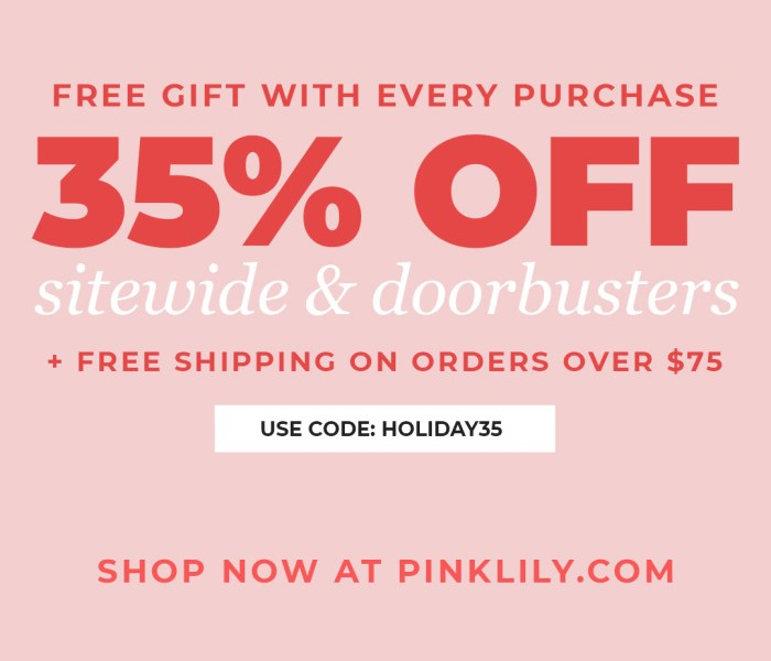 CYBER MONDAY DOORBUSTERS- PINK LILY