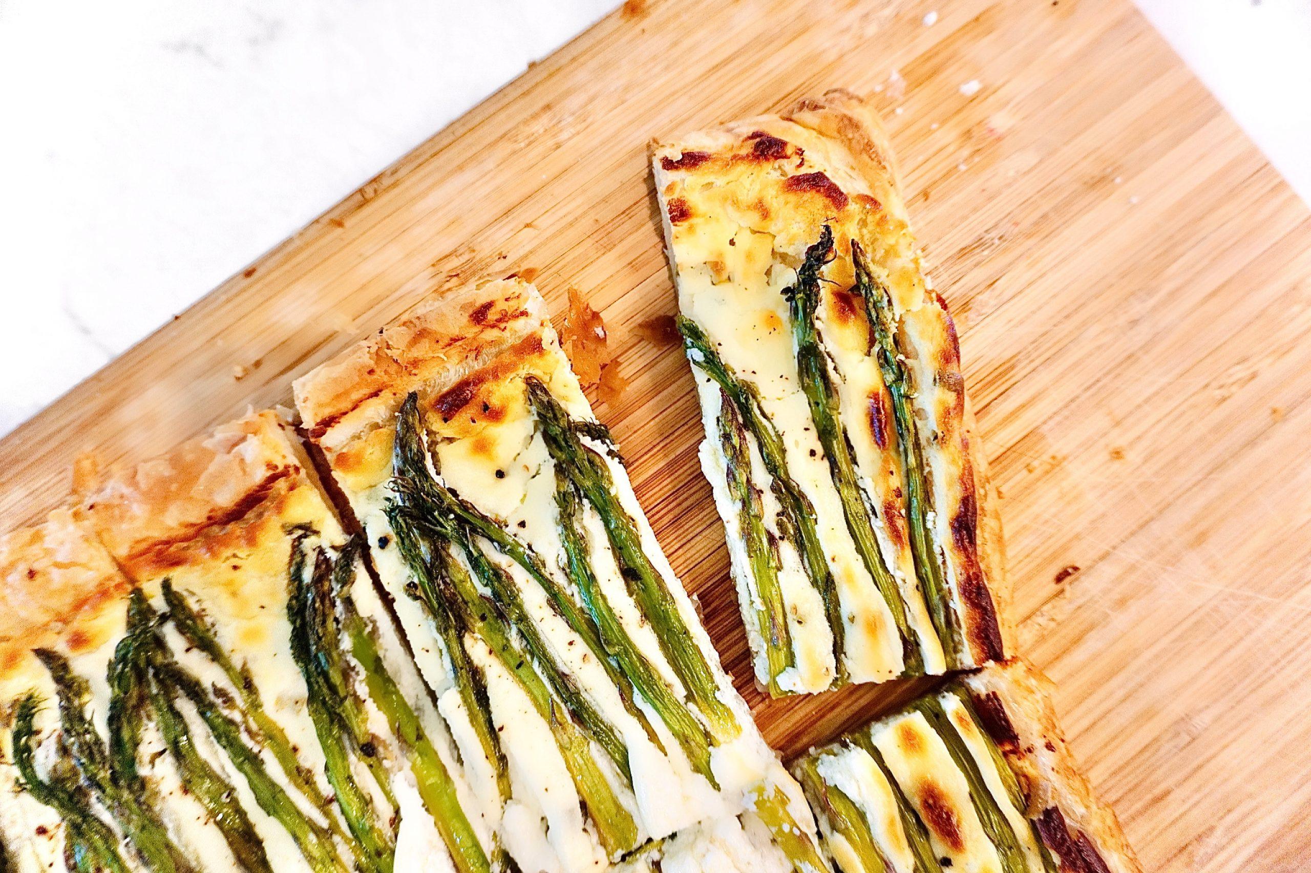 Asparagus & Goat Cheese Tart Easy Spring Appetizer Recipe