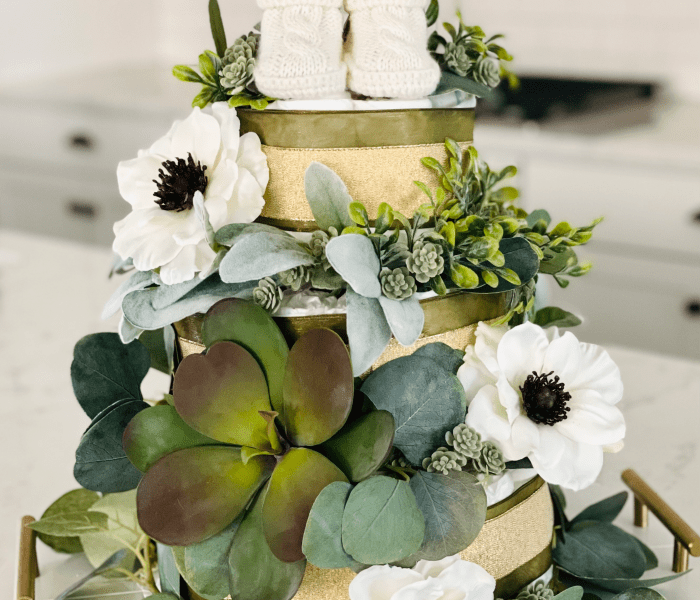 DIY Succulent Baby Diaper Cake- Simple Step by Step Guide