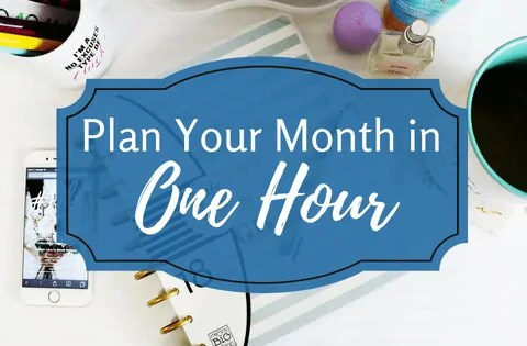 plan your month main