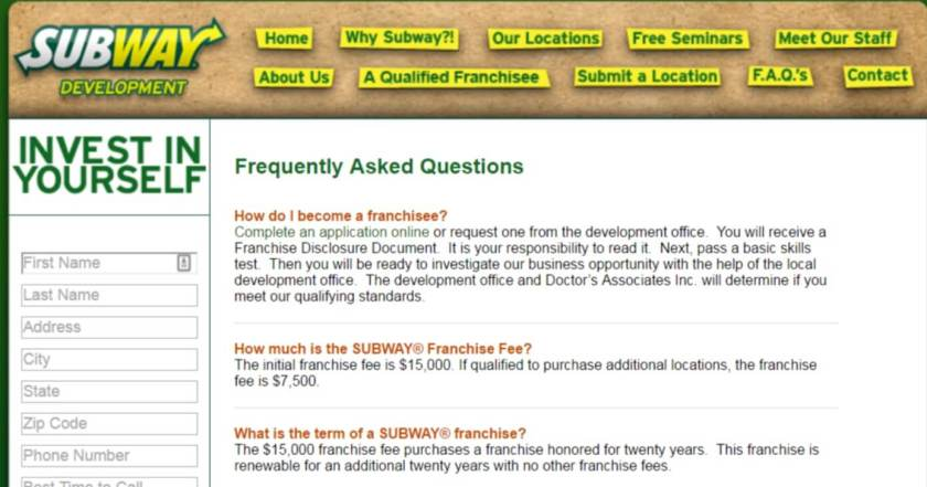 Start a franchise and grow your residual income