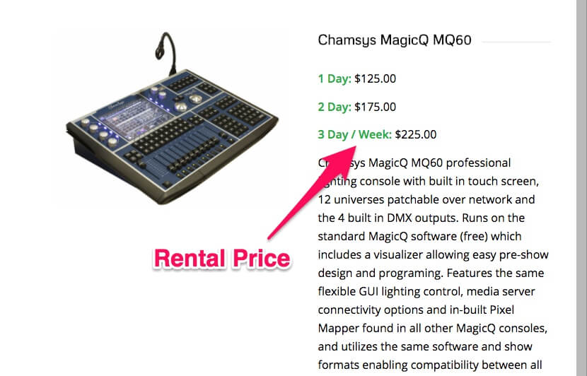 Rent out expensive equipment to earn extra money