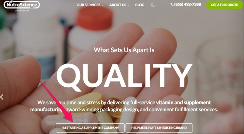 Build your own supplement brand with white labeled vitamins