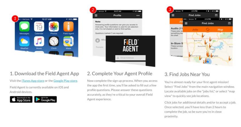 Apps to make money collecting information with FieldAgent