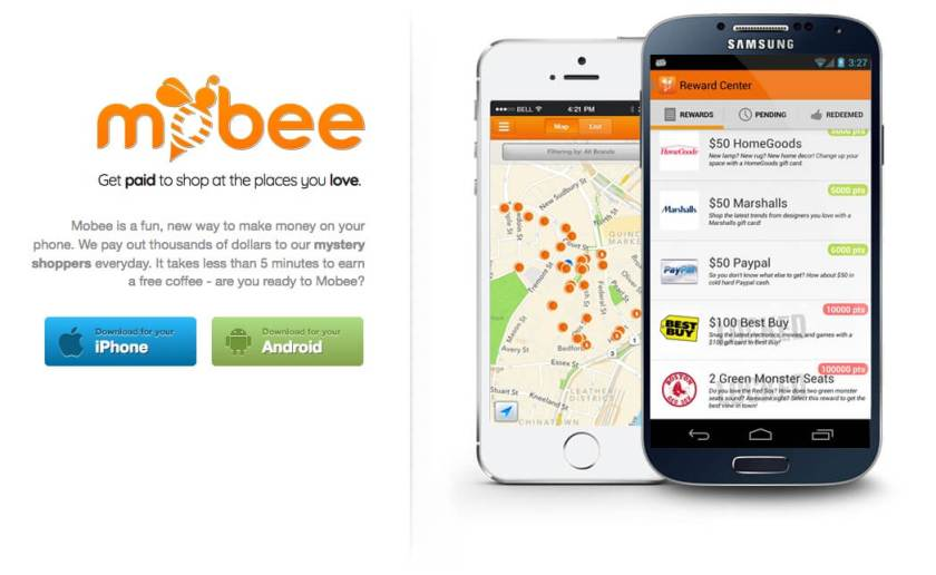 Apps to make money from mystery shopping with Mobee
