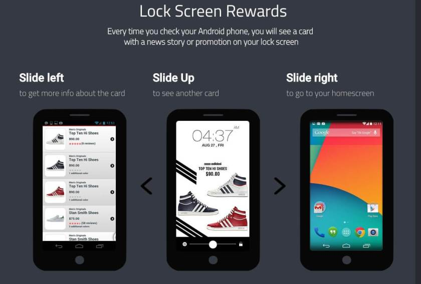 Slidejoy is one of those apps to make money from your lock screen