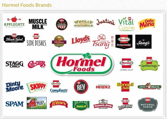 Brands offered by Hormel
