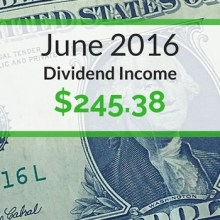 Dividend Income We Earned for June 2016