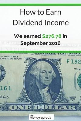 How We Earned $276.78 in Dividends in September 2016