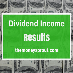 Dividend Income Results on The Money Sprout Index