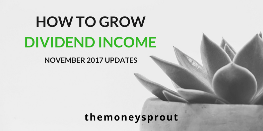 How to Grow Dividend Income - November Updates