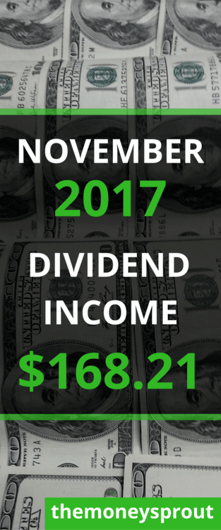 How We Earned $168.21 in Dividend Income in November 2017
