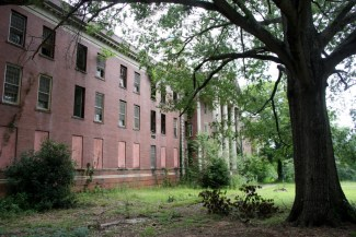 Abandoned Jones Building at Central State Hospital, Milledgeville, Georgia.
