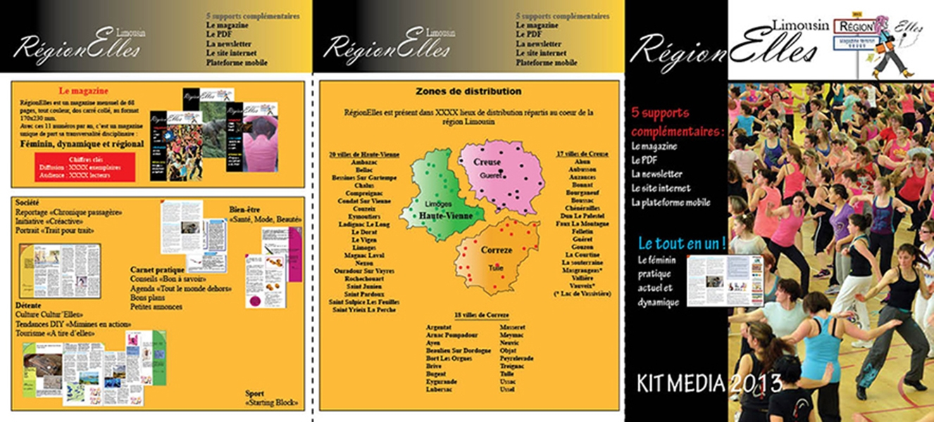 Creation de kit media- Regionelles magazine Limousin
