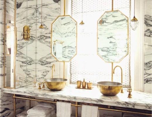marble tile bathrrom