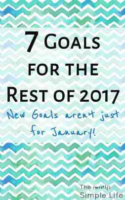 7 Goals for the Rest of the Year   New goals aren't just for January   Resolutions   Save Money   Healthy Goals