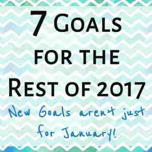 Goals for 2017 (or at least the rest of it)