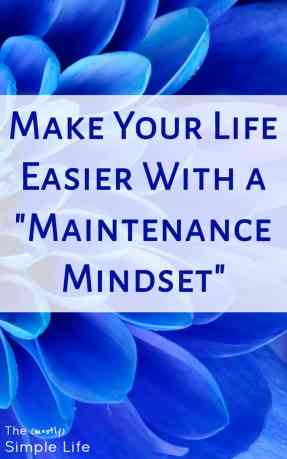 "Make Your Life Easier With a ""Maintenance Mindset"" 