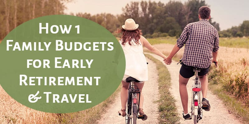 Living on a budget can be tough! I love this real example of a monthly budget (actual numbers!). Great example of how to budget in early retirement and still travel a lot. At the bottom, you can get a free budget worksheet!