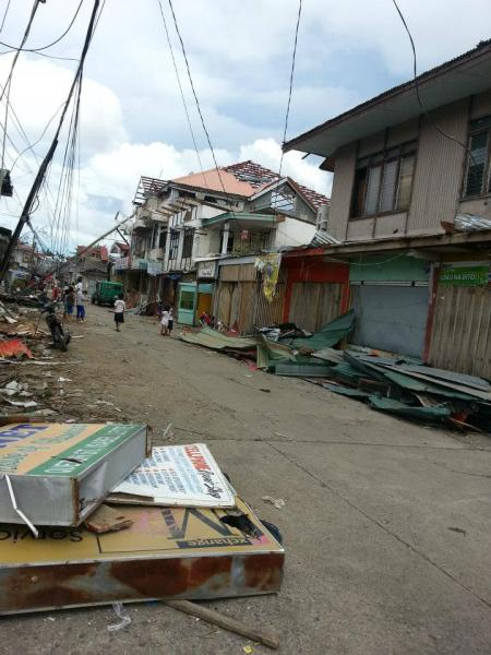 Isabel, Leyte at the momment 2013 - Aftermath of Typhoon Haiyan