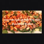 Sweet Potato Salad with Baked Philly Cheese and Honey Mustard Dressing