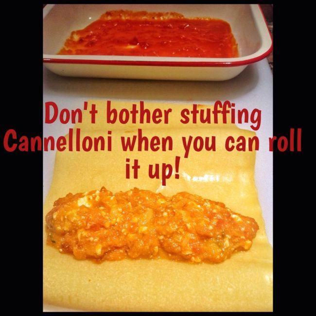 Pumpkin and Feta Cannelloni