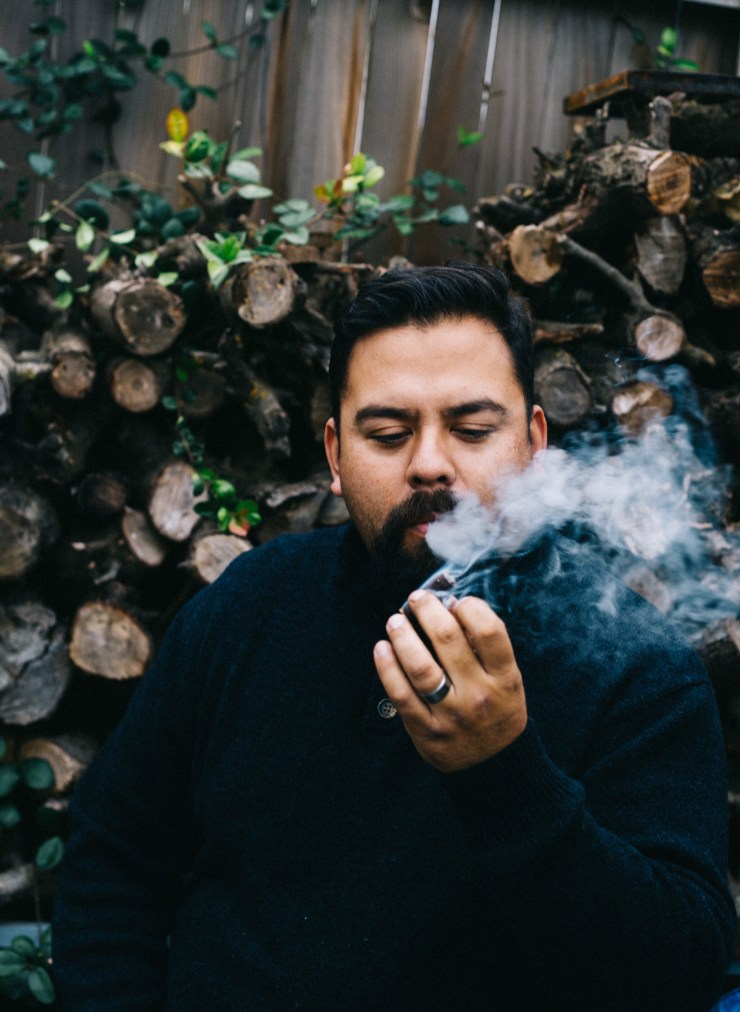 The Motherly Escape Fred Prieto 35 year old birthday. Cigar smoking man.