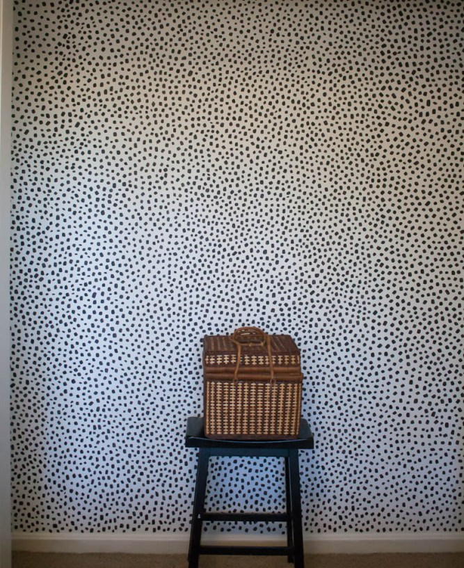 100 Room Challenge: Painting faux wallpaper