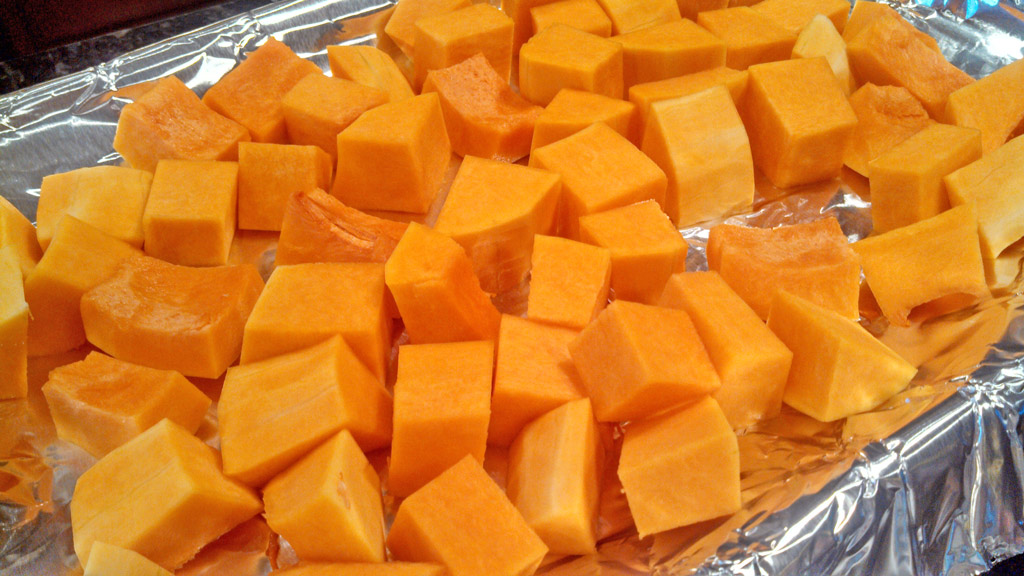 Do you know how to cut butternut squash? Cutting into one of these things can be quite a chore! Here are the steps on how to cut butternut squash easily. | TheMountainKitchen.com