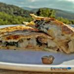 Spicy Pepper Jack Mushroom-Spinach Quesadillas are made with sauteed mushrooms, onions and spinach and gooey pepper jack cheese. | TheMountainKitchen.com