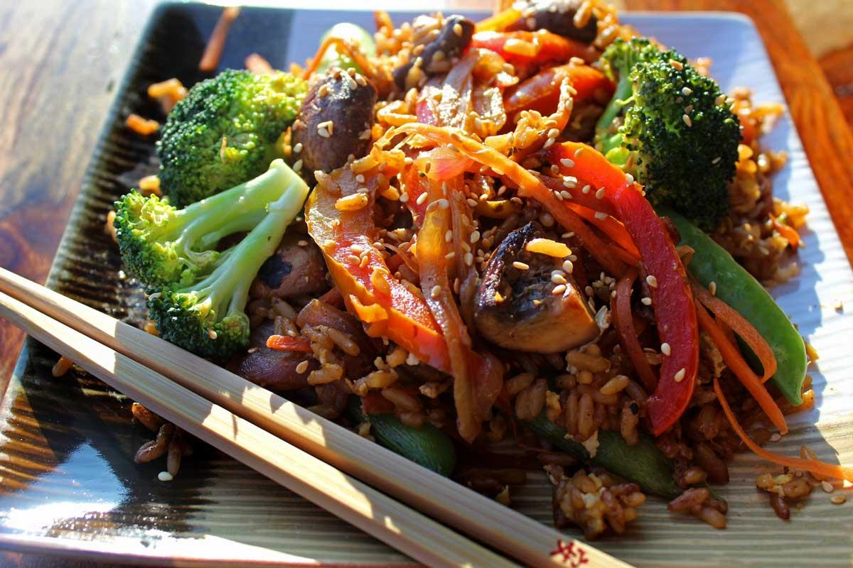 veggie stir-fry ready to eat